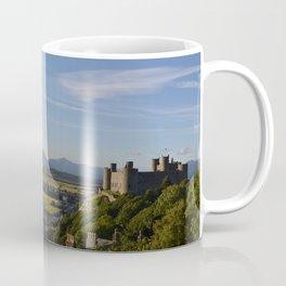 Harlech Castle and the Snowdonia mountains Coffee Mug
