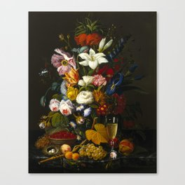 Victorian Bouquet by Severin Roesen Canvas Print