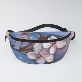 Cherry Blossoms Watercolor Spring Flowers Fanny Pack