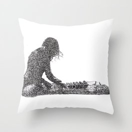 Jambinai - sitar Throw Pillow