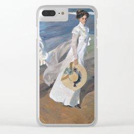 Joaquín Sorolla y Bastida - Strolling along the Seashore Clear iPhone Case