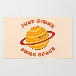 Just Gimme Some Space - Orange Rug