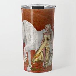 wonderful unicorn with fairy Travel Mug
