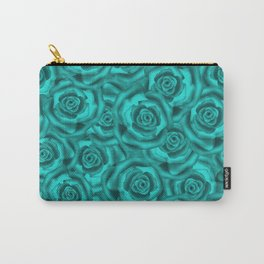 Bright turquoise roses Carry-All Pouch