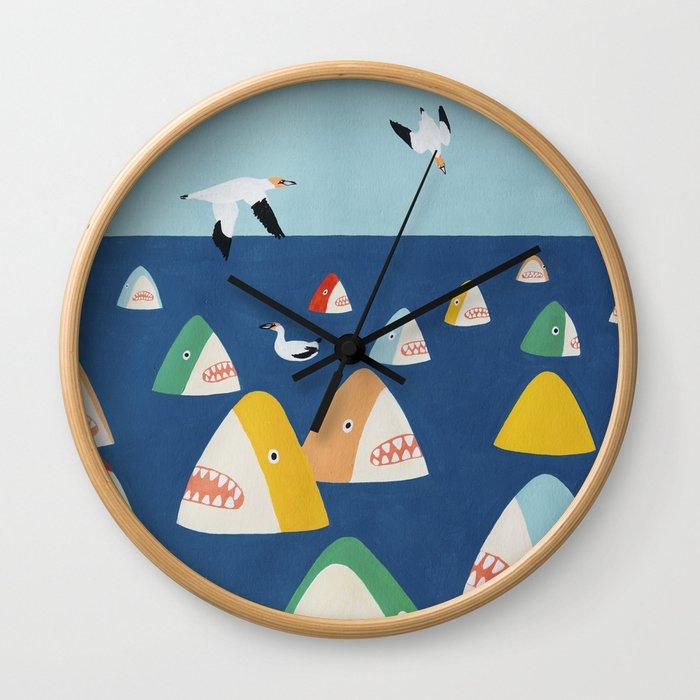 Shark Park Wall Clock