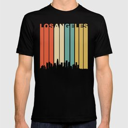 Retro 1970's Los Angeles California Downtown Skyline T-shirt