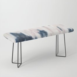 Blush Pink and Blue Pretty Abstract Bench