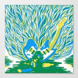 Guitar Explosion Canvas Print