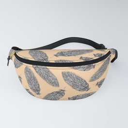 Feather Pattern Pastel Fanny Pack