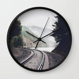 Railroad Tracks Wall Clock