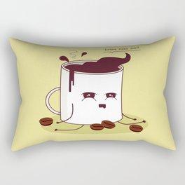 Coffee Mug Addicted To Coffee Rectangular Pillow