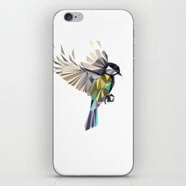 Flying Songbird Cyanistes Caeruleus Blue Tit Bird iPhone Skin