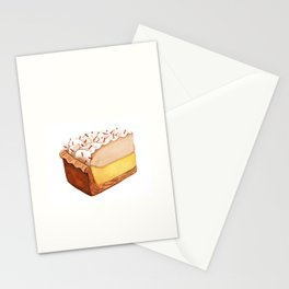 Coconut Cream Pie Slice Stationery Cards