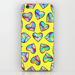 Hearts of glass II iPhone Skin
