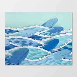 Serpents of the Sea Canvas Print