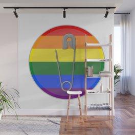 Gay Rights Safety Pin Wall Mural