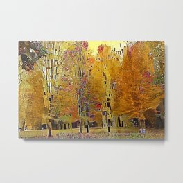 Klimt Trees Metal Print