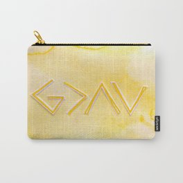 God Is Greater - YELLOW Carry-All Pouch