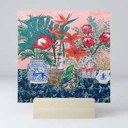 The Domesticated Jungle - Floral Still Life Mini Art Print