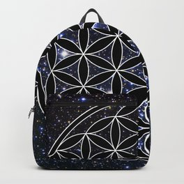 Flower of life in the space Backpack