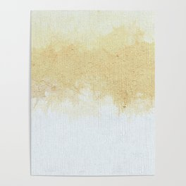 Textured Neutral white and Tan Abstract Poster