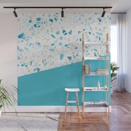 Terrazzo Texture Pacific Light Blue #5 Wall Mural