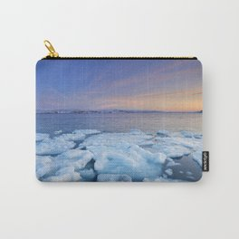 Ice floes at sunset, Arctic Ocean, Porsangerfjord, Norway Carry-All Pouch