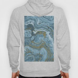 Gold Waves on Blue Hoody
