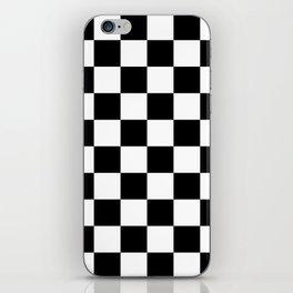 Black & White Checkered Pattern iPhone Skin