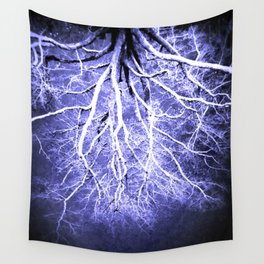 Passage to Hades Periwinkle Gray Wall Tapestry