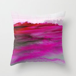 Purple Clouds Red Mountain Throw Pillow