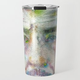 FRANZ KLINE - watercolor portrait Travel Mug