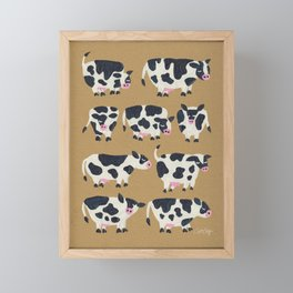 Cow Collection - Kraft Framed Mini Art Print