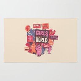 Girls Rule The World Rug