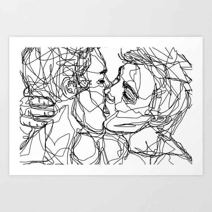 Boys kiss too Kunstdrucke