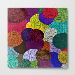 Colorful Circle Art Metal Print