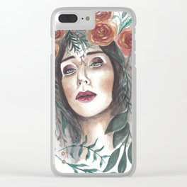 Vintage Beauty Clear iPhone Case