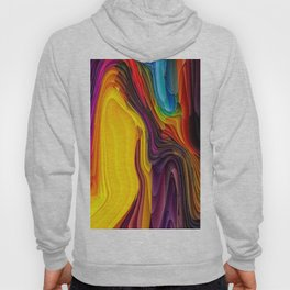 Melting Pot of Colors Abstract Hoody