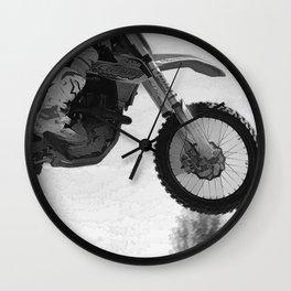 Motocross Dirt-Bike Racer Wall Clock