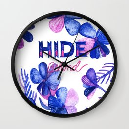 Hide Behind Wall Clock