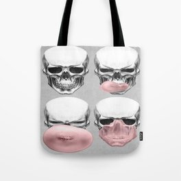 Skull with gum Tote Bag