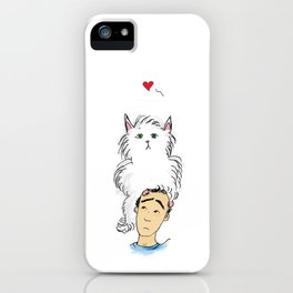 Cats are weird sometimes iPhone Case