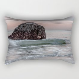 Wave at haystack in Rockport Rectangular Pillow