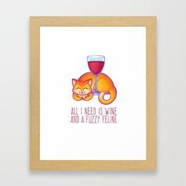 All I Need is Wine Framed Art Print