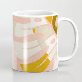 shapes leave minimal abstract art Coffee Mug
