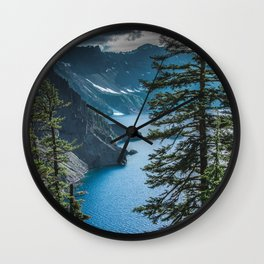 Blue Crater Lake Oregon in Summer Wall Clock