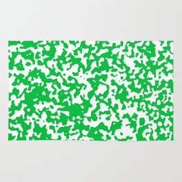 Small Spots - White and Dark Pastel Green Rug
