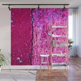 Neon Pink Road Wall Mural