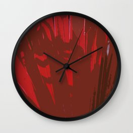 Deep Red Wall Clock