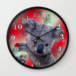 Christmas Koala Wall Clock